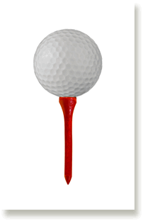 tee and golf ball